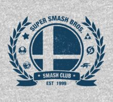 Smash Club (Blue) Kids Tee