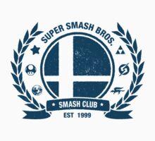 Smash Club (Blue) Kids Tee