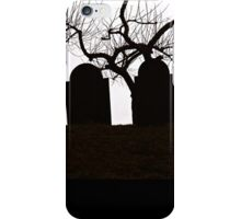 A Cemetery Point of View iPhone Case/Skin