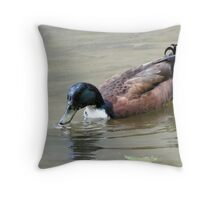 Darth Duck Throw Pillow