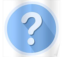 Question Mark Icon Poster