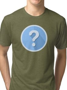 Question Mark Icon Tri-blend T-Shirt