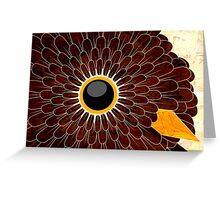 bird's eye ruffled feathers Greeting Card