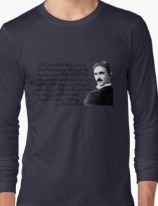 Nikola Tesla on Invention Long Sleeve T-Shirt
