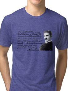 Nikola Tesla on Invention Tri-blend T-Shirt