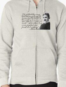 Nikola Tesla on Invention Zipped Hoodie