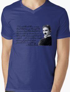 Nikola Tesla on Invention Mens V-Neck T-Shirt
