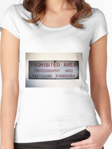 No Photography or Sketching  Women's Fitted Scoop T-Shirt
