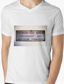No Photography or Sketching  Mens V-Neck T-Shirt