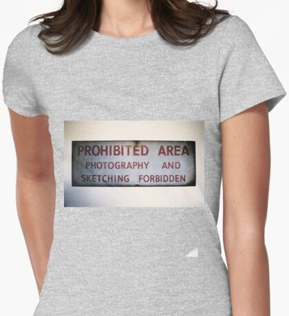 No Photography or Sketching  Womens Fitted T-Shirt