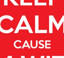Keep Calm cause I'm With Stupid Sticker