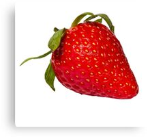 single, isolated strawberry Canvas Print