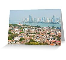 Xiamen view from Gulangyu Island, China.  Greeting Card