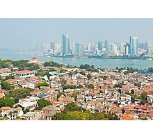 Xiamen view from Gulangyu Island, China.  Photographic Print