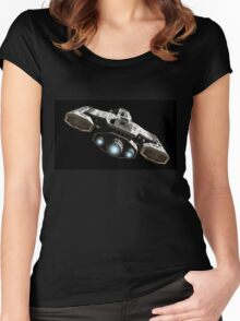 Blue Engine Glow Women's Fitted Scoop T-Shirt
