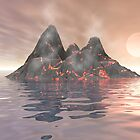 Volcano Island by perkinsdesigns