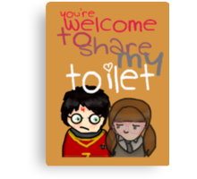 Toilet Canvas Print