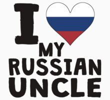 I Heart My Russian Uncle Kids Tee