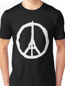Peace, Pray For Paris White Unisex T-Shirt