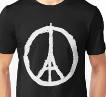 Peace, Pray For Paris White Unisex T-Shirt