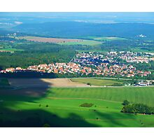 view from Hohenzoler castel - Germany Photographic Print