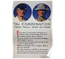 The combination that will win the war Poster