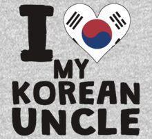 I Heart My Korean Uncle Kids Tee