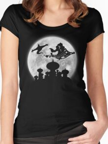 Full Moon over Agrabah Women's Fitted Scoop T-Shirt