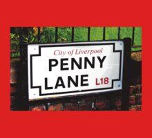 penny lane , Liverpool, England, sign Baby Tee