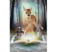 Believe In Magic • (Forest Friends: Bambi / Thumper / Flower) Photographic Print