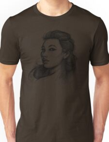 Beautiful Woman Artist Pencil Sketch 1 Unisex T-Shirt