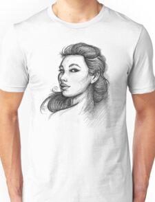Beautiful Woman Artist Pencil Sketch 1 Unisex T-Shirt