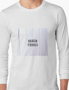Beach Fossils Original Font Long Sleeve T-Shirt