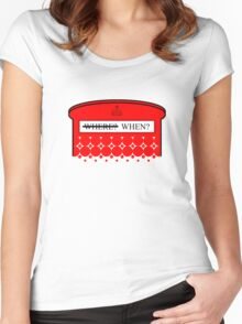 The question isn't where... Women's Fitted Scoop T-Shirt