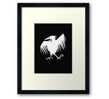 white raven Framed Print