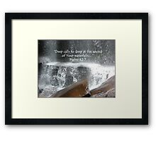 """Psalm 42:7""  by Carter L. Shepard Framed Print"