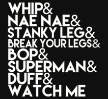 Watch Me | Whip and Nae Nae Typography One Piece - Short Sleeve
