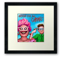 Anything for you cupcake Framed Print