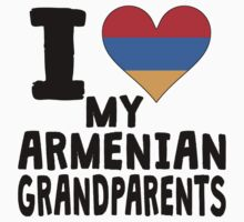 I Heart My Armenian Grandparents Kids Clothes