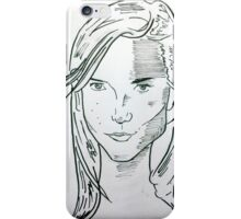 portrait of a model iPhone Case/Skin