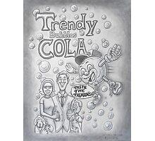 Trendy Bubbles Cola II  Photographic Print