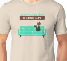 Social Anxiety Level: House Cat Unisex T-Shirt