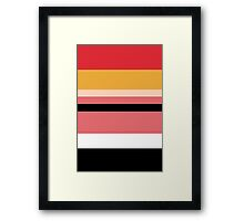 Minimalist Powerpuff Girls Blossom [iPhone / iPad / iPod Case] Framed Print