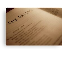 Book of Psalms Canvas Print