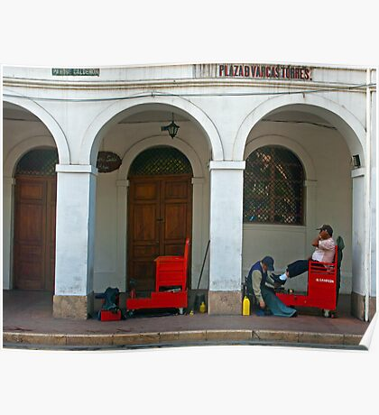 Shoeshine Cuenca, Ecuador Poster