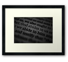 Something to Think About... Framed Print