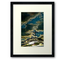 Holy Sunset Framed Print