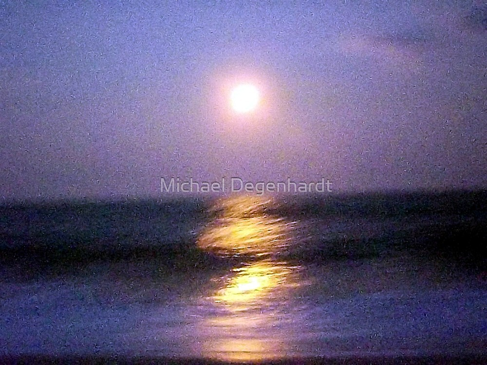 Impressionistic Moon by Michael Degenhardt