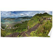 Sokehs Rock Panoramic - Pohnpei, Micronesia Poster