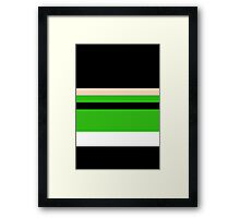 Minimalist Powerpuff Girls Buttercup [iPhone / iPad / iPod Case & Print] Framed Print